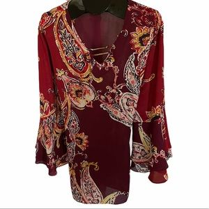 Gorgeous Bell Sleeve Blouse, 26/28W